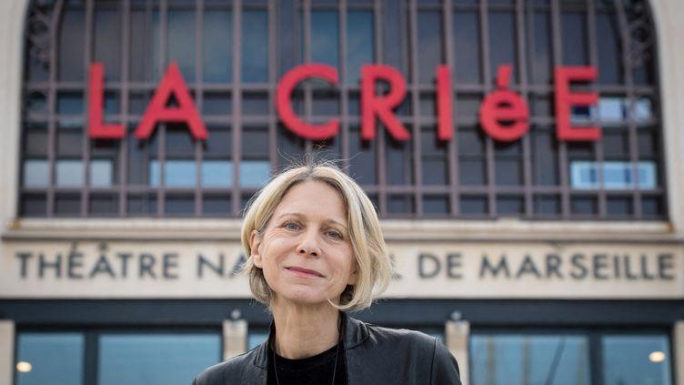 Macha Makeïeff, directrice du théâtre de La Criée à Marseille, le 16 novembre 2018. (GERARD JULIEN / AFP)