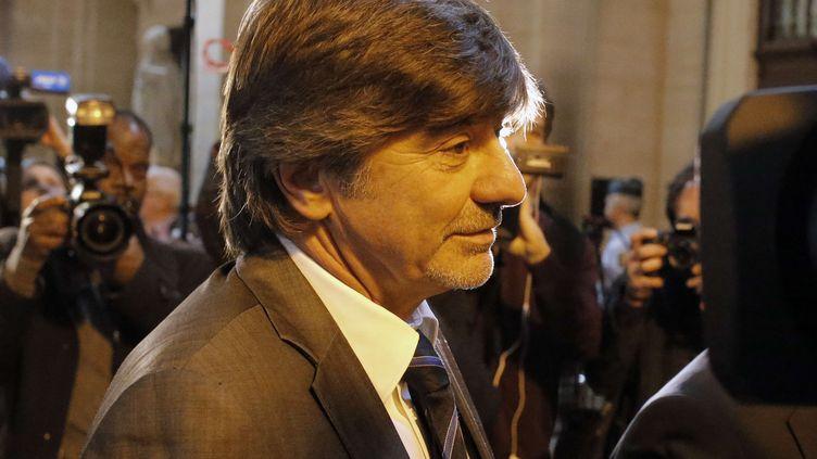 Michel Neyret au tribunal correctionnel de Paris le 2 mai 2016. (FRANCOIS MORI/AP/SIPA)