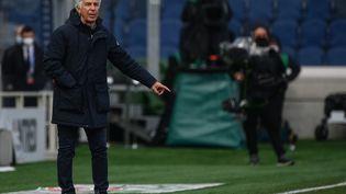L'entraîneur italien de l'Atalanta Gian Piero Gasperini, austade Atleti Azzurri d'Italia à Bergamele, le 18 avril 2021. (MARCO BERTORELLO / AFP)