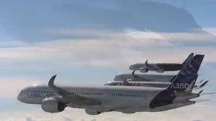 """Le secteur de l'aéronautique, éprouvé par la crise, tente de se réinventer. Cela passe par des avions moins chers en carburant. Airbus tente d'élaborer des """"vols parfaits"""". (FRANCE 2)"""