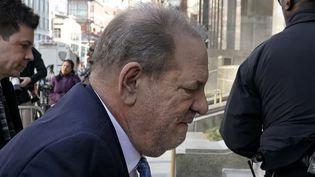 Harvey Weinstein, le 24 février 2020, à New-York. (TIMOTHY A. CLARY / AFP)