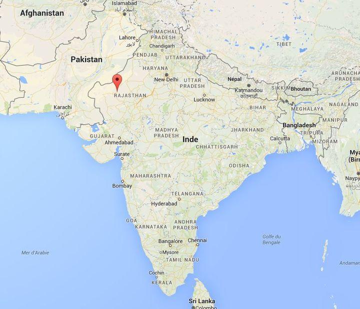 Capture écran Google Maps de la ville de Phalodi dans le nord de l'Inde, vendredi 20 mai. (GOOGLE MAPS)
