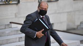 Eric Dupond-Moretti, ministre de la Justice, après un Conseil des ministres à l'Elysée, le 25 août 2021. (ALAIN JOCARD / AFP)