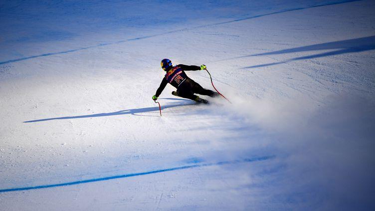 Le skieur français Valentin Giraud-Moine (JOE KLAMAR / AFP)