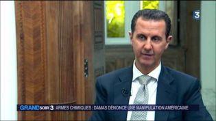 Bachar al-Assad s'exprime pour la première fois depuis les bombardements américains. (FRANCE 3)