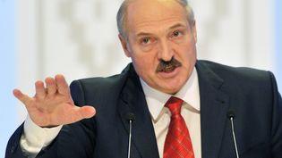 Le président biélorusse, AlexandreLoukachenko, à Minsk (Biélorussie), le 20 décembre 2010. (SERGEI SUPINSKY / AFP)