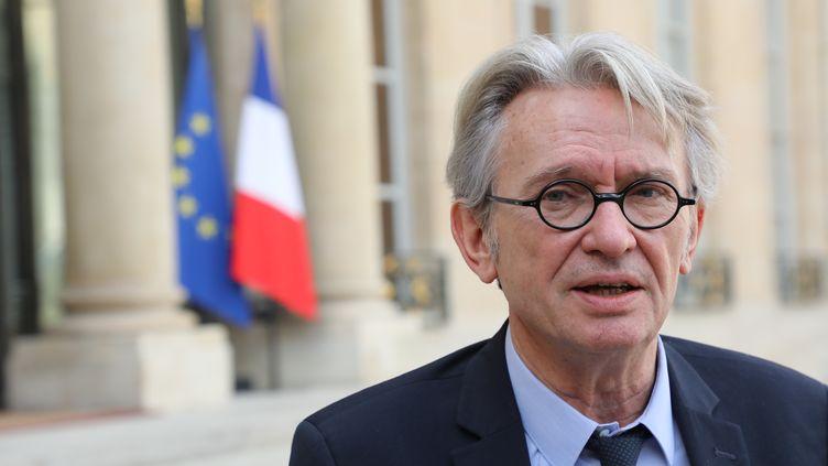 Jean-Claude Mailly, secrétaire général de Force ouvrière, à Paris, le 12 octobre 2017. (LUDOVIC MARIN / AFP)