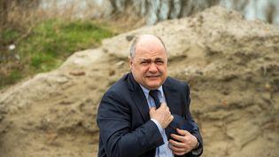 Bruno Le Roux, le 1er mars 2017, à Calais (Pas-de-Calais). (PHILIPPE HUGUEN / AFP)