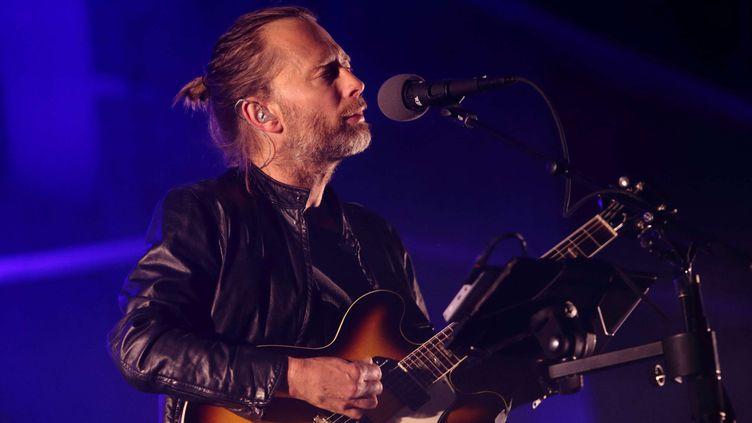 Thom Yorke sur scène avec Radiohead au festival Austin City Limits en 2013.  (John Davisson/AP/SIPA)
