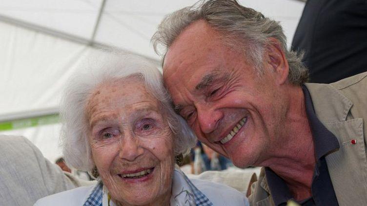 Gisèle Casadesus et son fils Jean-Claude (2014)  (GUILLAUME SOUVANT / AFP)