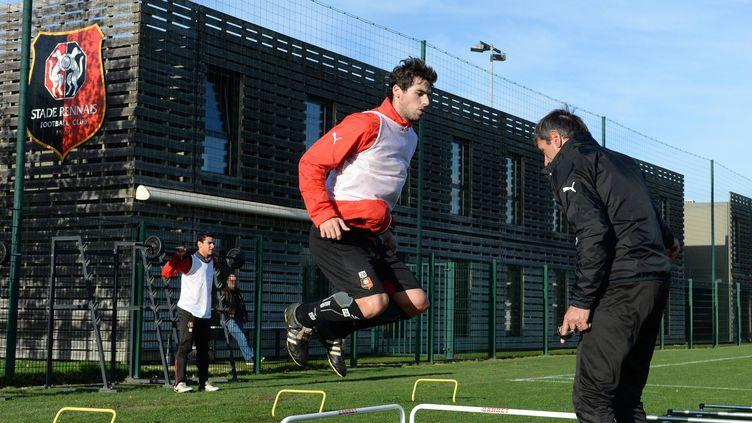 Yoann Gourcuff à l'entraînement du Stade Rennais  (THOMAS BREGARDIS / MAXPPP)