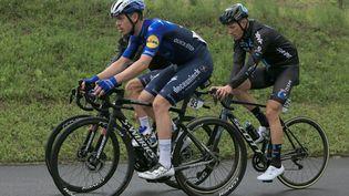 Rémi Cavagna (Deceuninck Quick - Step) est le nouveau champion de France sur route après sa victoire dimanche 20 juin 2021. (PIERRE TEYSSOT / MAXPPP)