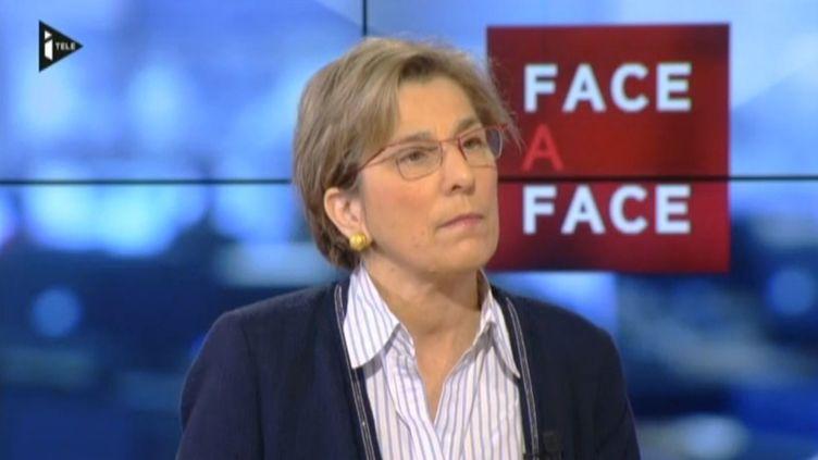 Marie-Noëlle Lienemann, sénatrice PS de Paris, sur i-Télé, le 21 avril 2014. (I-TELE / FRANCETV INFO)