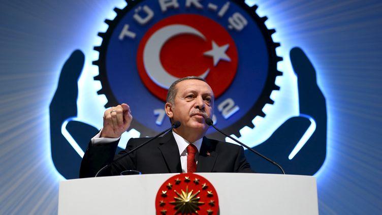 Le présiden turc, Recep Tayyip Erdogan, prononce un discours à Ankara (Turquie), le 3 décembre 2015. (REUTERS)