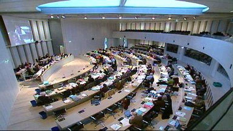 La salle du Conseil régional de Bretagne