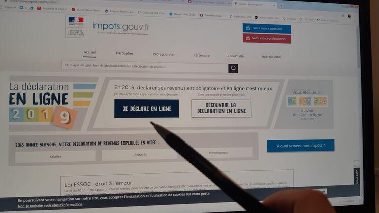 Déclaration de revenus en ligne sur le site impots.gouv.fr. (AURÉLIE LAGAIN / RADIO FRANCE)