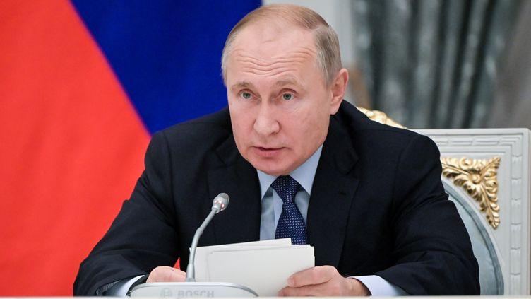 Vladimir Poutine, le 5 novembre 2019 à Moscou (Russie). (SERGEY GUNEEV / SPUTNIK)