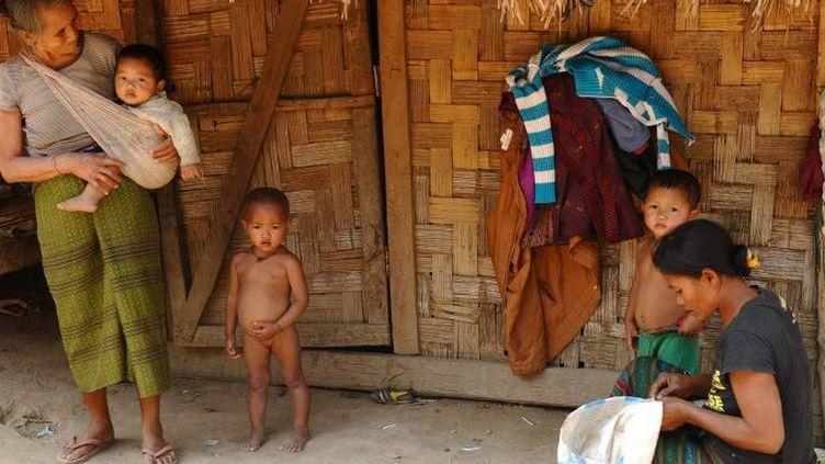 Khamu, dans la province nord de Luang Namtha, le 10 mars 2011. (AFP PHOTO / HOANG DINH Nam)