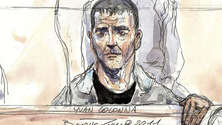 Yvan Colonna le 2 mai 2011 lors de son procès à Paris. (BENOIT PEYRUCQ / AFP)