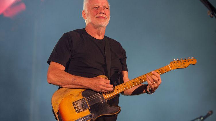 David Gilmour joue à Pula en Croatie le 12 septembre 2015. (BRIAN RASIC / WIREIMAGE)