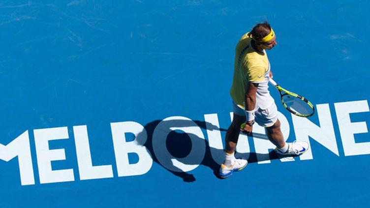 Le joueur espagnol Rafael Nadal sorti au premier tour de l'Open d'Australie 2016