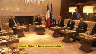 Les propos du président Emmanuel Macron ont provoqué l'incompréhension en Algérie. (FRANCEINFO)