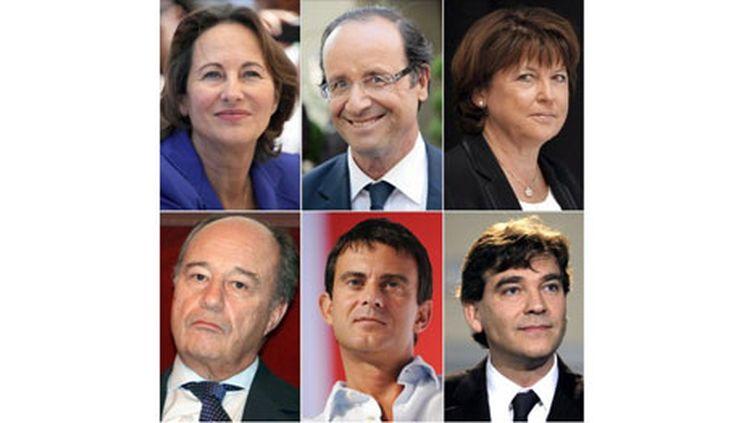 Les six candidats à la primaire PS (AFP)