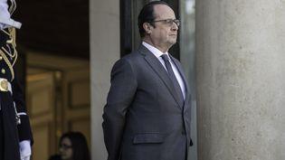 François Hollande sur le perron de l'Elysée (Paris) le 20 janier 2016. (CITIZENSIDE / YANN KORBI / AFP)