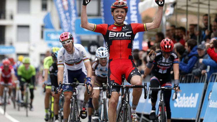 L'Espagnol Samuel Sanchez (BMC) a remporté la 4e étape du Tour du Pays Basque. (JAVIER ETXEZARRETA / EFE)