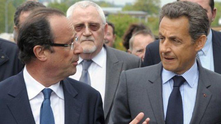 François Hollande et Nicolas Sarkozy se connaissent très bien et se tutoient. (AFP PHOTO - POOL - PHILIPPE WOJAZER)