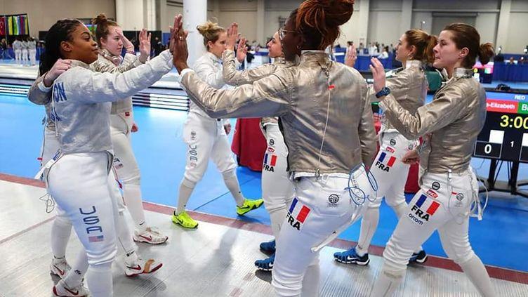 Décembre 2019. L'équipe de France affronte les Etats-Unis lors de la coupe du monde de Salt Lake City. (Augusto Bizzi)
