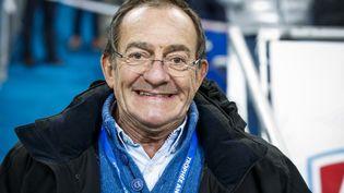 Jean-Pierre Pernaut, le 9 février 2019 au Stade de France à l'occasion du Trophée Andros. (FLORENT GOODEN / DPPI MEDIA / AFP)