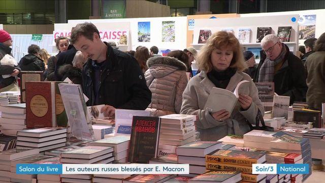 Salon du livre : les auteurs russes regrettent le boycott d'Emmanuel Macron