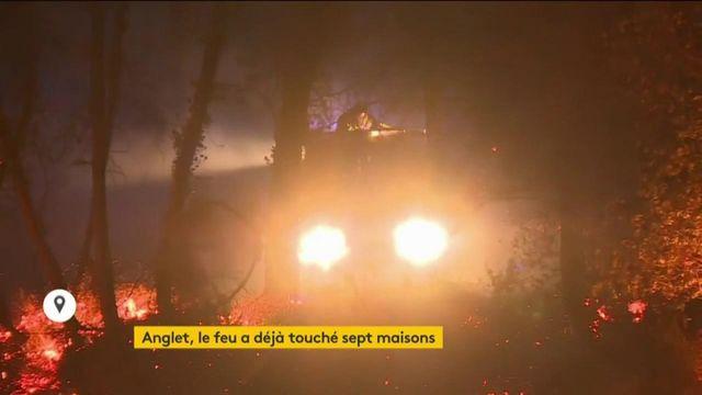 Des habitations évacuées à Anglet en raison d'un incendie