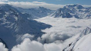 Le risque avalanche était fort, de 4 sur une échelle de 5, et signalé dans la station de la Plagne, vendredi 6 mars. (MAXPPP)