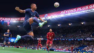 L'attaquant du PSG Kylian Mbappé est sans surprise l'une des vedettes de Fifa 22. (EA Sports)