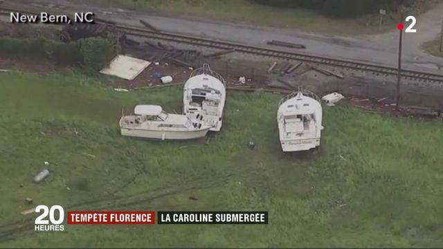 Tempête Florence : la Caroline du Nord est submergée par les eaux