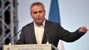Xavier Bertrand, le 12 septembre 2015 au Touquet (Pas-de-Calais), lors du campus des Républicains. (FRANCOIS LO PRESTI / AFP)