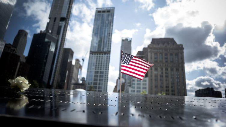 Le mémorial des attentats du 11 septembre 2001 à Manhattan, le quartier des affaires de New York. (ARTHUR NICHOLAS ORCHARD / HANS LUCAS)