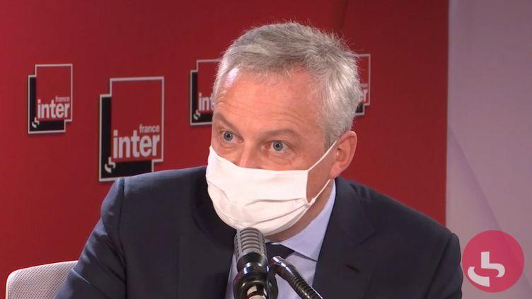 Bruno Le Maire était l'invité de France Inter vendredi 30 octobre. (FRANCE INTER)