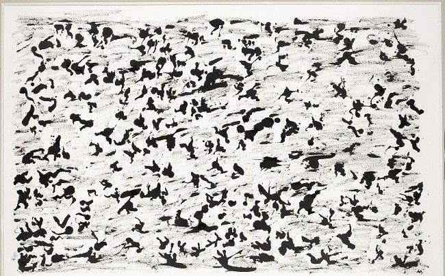Henri Michaux Sans titre, 1964, Encre sur papier, 64 x 102 cm  (Dennis Bouchard)