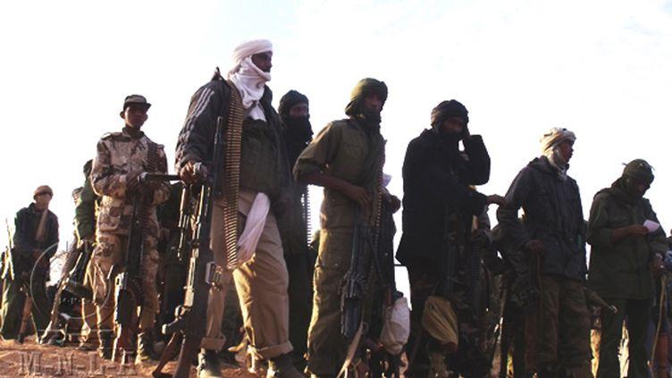 Des combattants de la rébellion touareg du MNLA. Image transmise le 2 avril par ces derniers. (MNLA / AFP)