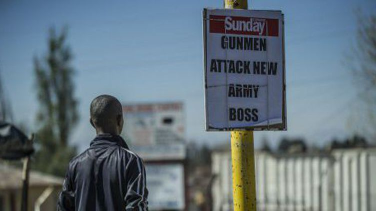 Le 30 août 2014, le chef du gouvernement, Thomas Thabane, s'est réfugié en Afrique du Sud (AFP)