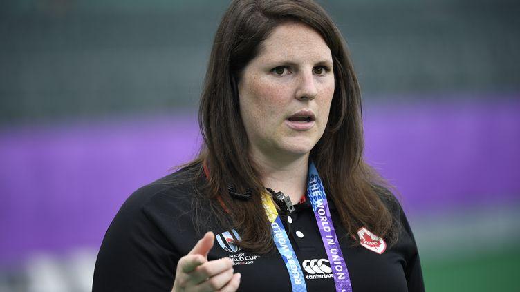 Alana Gattingerlors d'un entraînement au Japon pour la Coupe du monde de rugby 2019. (CHRISTOPHE SIMON / AFP)