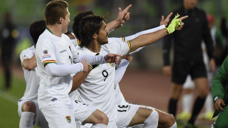 La Bolivie célèbre sa victoire (JUAN BARRETO / AFP)