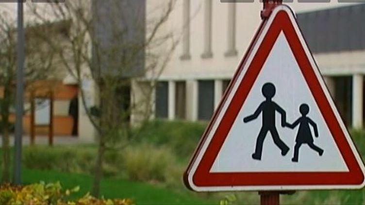 Près de l'école de Berneval-le-Grand (Seine-Maritime), en novembre 2013. ( FRANCE TELEVISIONS  / FRANCETV INFO)