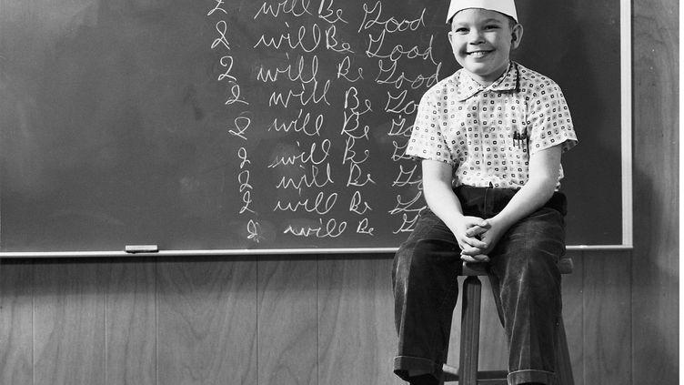Punir un élève en l'affublant d'un bonnet d'âne n'est plus autorisé depuis les années 1960. (SIPA)