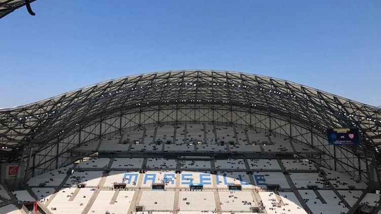 Le stade Vélodrome à Marseille. (CAMILLE PAYAN / RADIOFRANCE)
