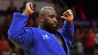 Teddy Riner lors du Grand Prix de Montréal (Canada) de judo, le 7 juillet 2019. (PHILIPPE MILLEREAU / KMSP)