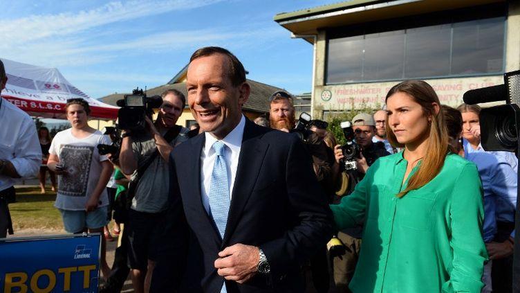 Le dirigeant conversateur australien Tony Abbott, le 7 septembre 2013 à Sidney (Australie). (SAEED KHAN / AFP)